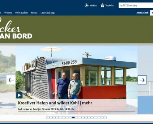 WDR - Lecker an Bord - TV Serie mit Hausboot